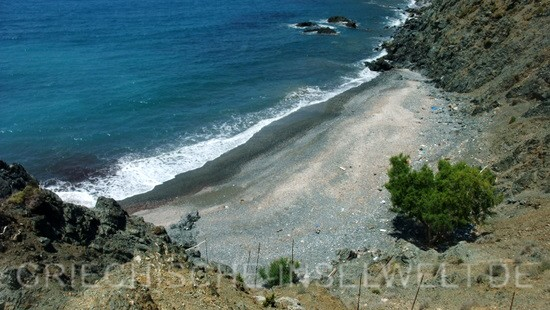 Hohlaka Strand - Blick von oben nach Rechts