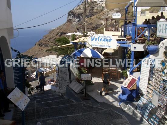 Santorini Caldera Hauptgasse