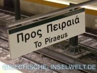 Verbindung Flughafen nach Piraeus